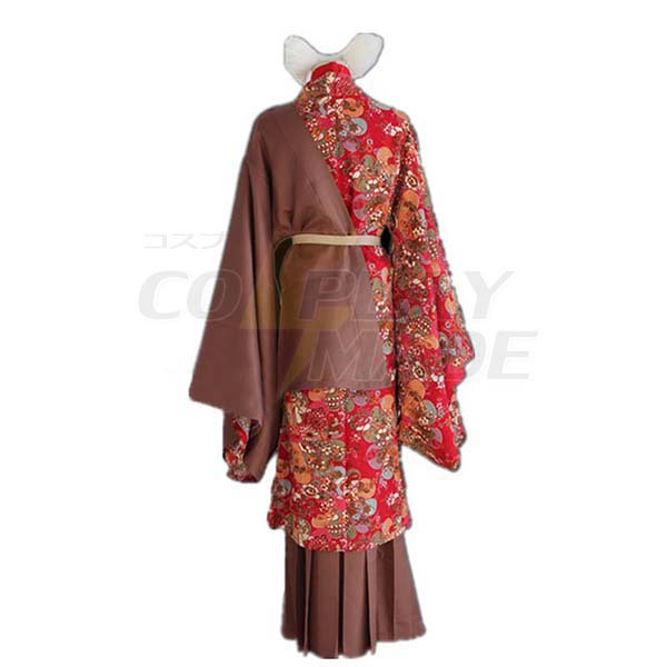Kamisama Kiss Tomoe Cosplay Costume Anime Red Kimono Uniform