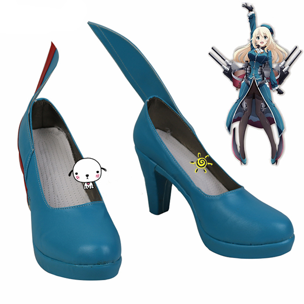 Zapatos Kantai Collection Atago-Cclass Destroyer Cosplay Botas Originales!
