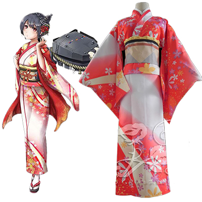 Costumi Kantai Collection Fusou Kimono Cosplay Halloween