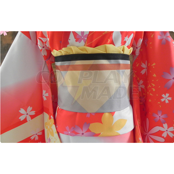 Kantai Collection Fusou Kimono Cosplay Costume Halloween