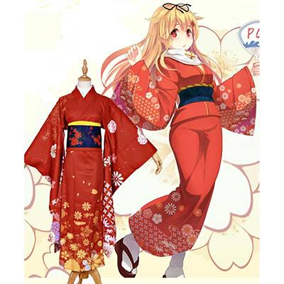 Kantai Collection Kai Ni Yuudachi Kimono Cosplay Jelmez
