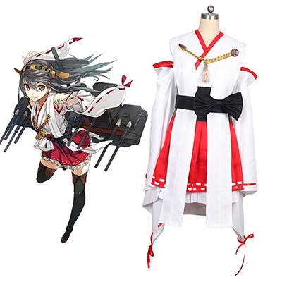 Kantai Collection Kancolle Haruna Cosplay Kostym Halloween