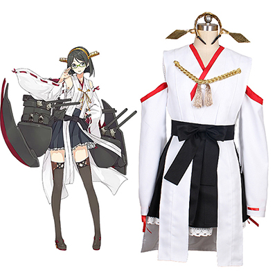 Kantai Collection Kancolle Kirishima Cosplay Kostym Halloween