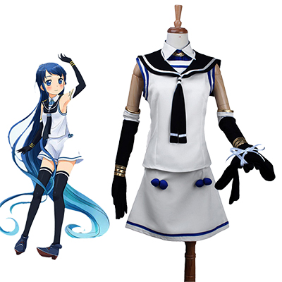 Kantai Collection Kankore Samidare Klänning Cosplay Kostym Karneval