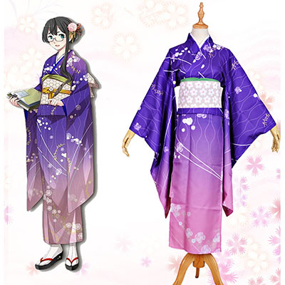 Kantai Collection Ooyodo Kimono Cosplay Kostymer Halloween