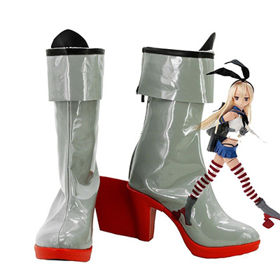 Kantai Collection Shimakaze Cosplay Sapatos Chuteiras Carnaval