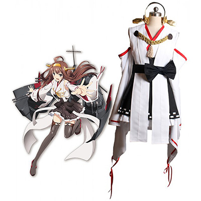 Kantai Collection Kancolle Kongou Cosplay Kostym Halloween