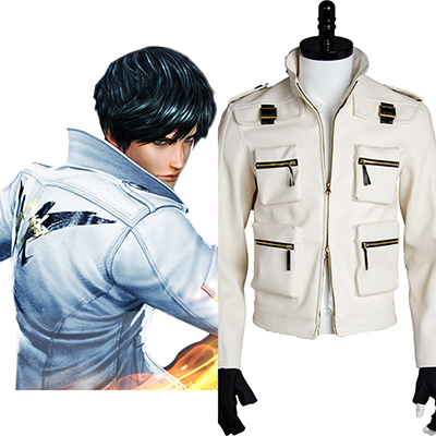 Costume King of Fighters XIV KOF 14 Kyo Coat Jacket Cosplay Déguisement