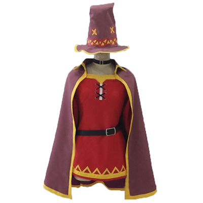 Anime KonoSuba God's Blessing On This Wonderful World Megumin Cosplay Jelmez Karnevál Ruhák