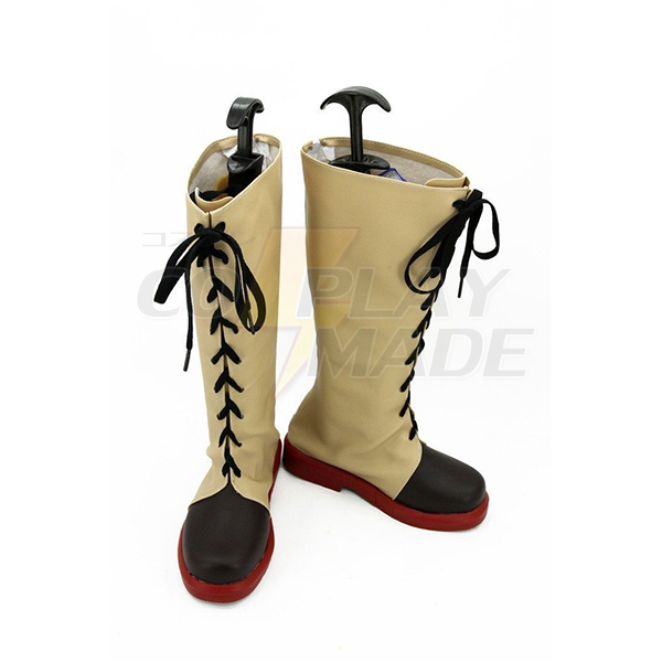 Kabaneri of the Iron Fortress Ayame Yomokawa Cosplay Scarpe Stivali Carnevale