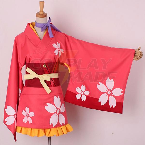 Costumi Koutetsujou no Kabaneri Mumei Kimono Cosplay Halloween