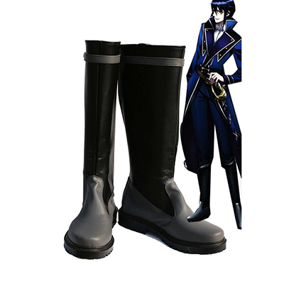K Return of Kings Manga Munakata Reisi Cosplay Skor Stövlar Karneval