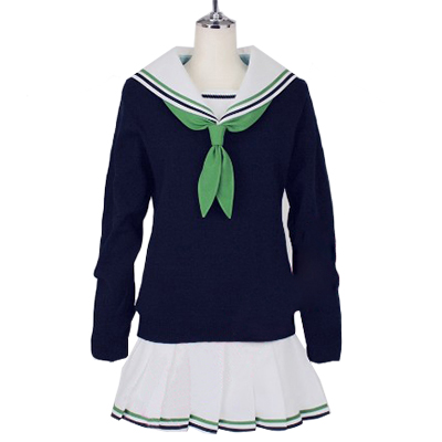 Kuroko No Basketball (Kuroko's Basketball) Aida Riko School Uniform Sailor Suit Cosplay Kostume