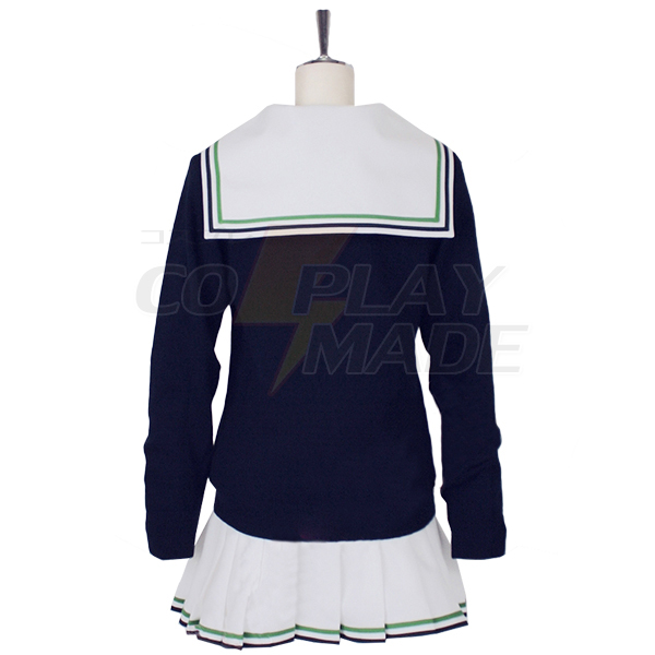 Disfraces Kuroko No Basketball (Kuroko\'s Basketball) Aida Riko School Uniforme Sailor Suit Cosplay
