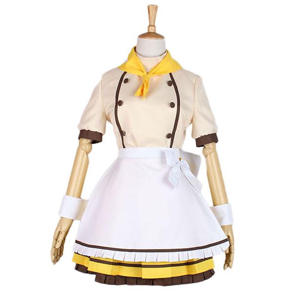 Disfraces Love Live Hoshizora Rin Maid Cosplay Halloween