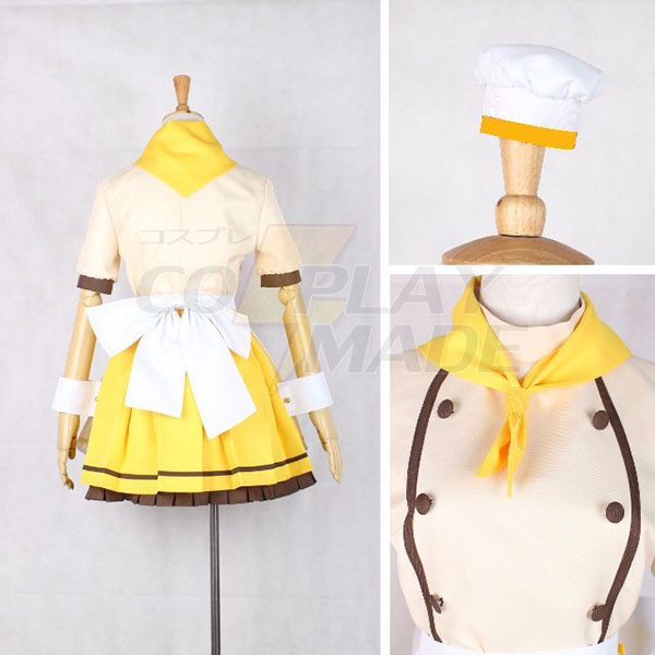 Love Live Hoshizora Rin Maid Cosplay Costume Halloween