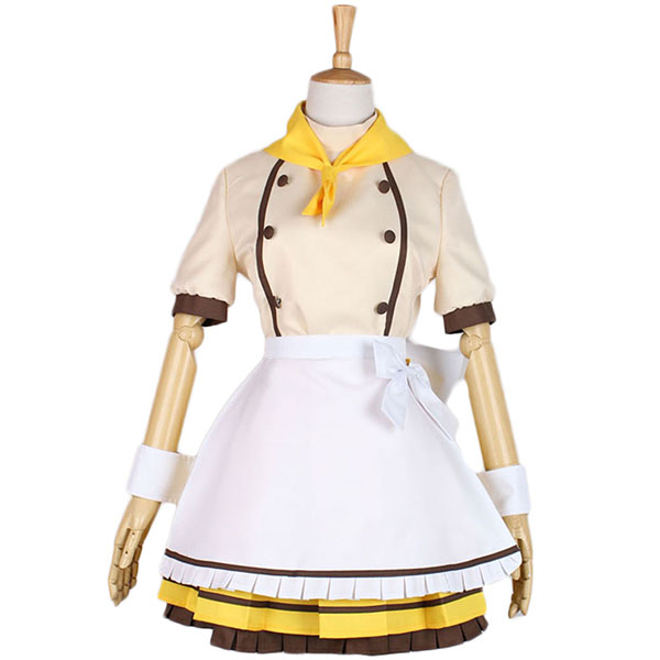 Costumi Love Live Kousaka Honoka Maid Vestito Cosplay Halloween
