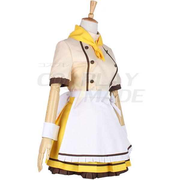 Love Live Kousaka Honoka Maid Dress Cosplay Costume Halloween