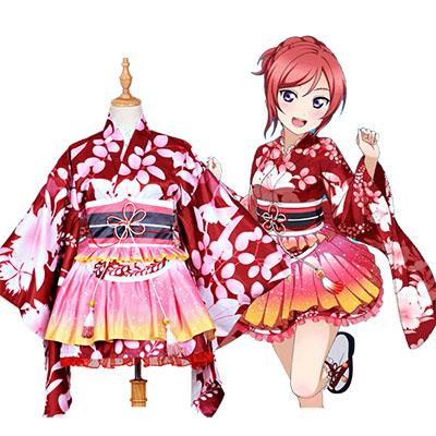 Love Live! Nishikino Maki Kimono Cosplay Costumes