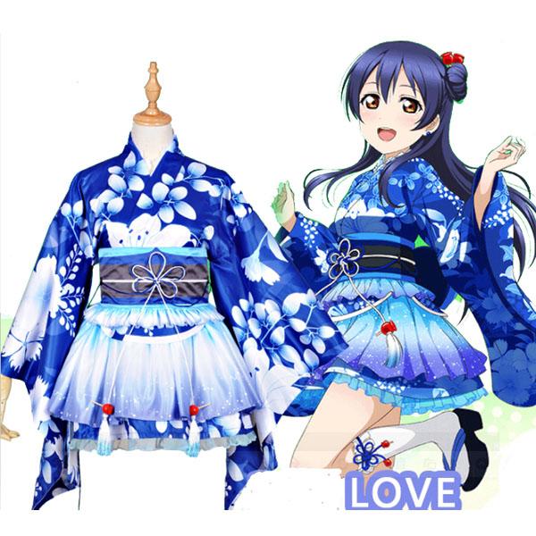 Love Live! Umi Sonoda Kimono Cosplay Costumes Halloween