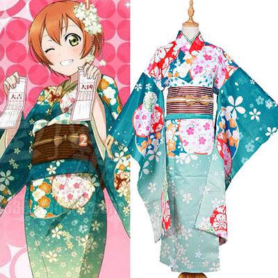 Costumi Love Live! Rin Hoshizora Kimono Halloween