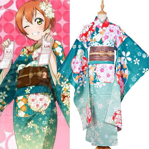 Love Live! Rin Hoshizora Kimono Cosplay Costumes Halloween