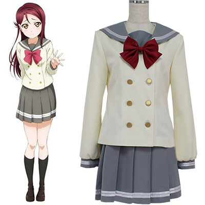 Fantasias de Love Live! Sunshine Aqours Sailor Ternos Autumn Uniforme Cosplay