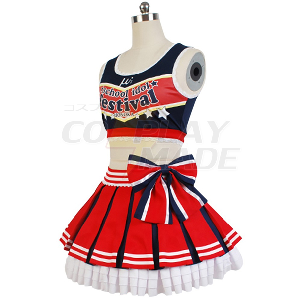 Love Live! Honoka Kousaka Cheerleaders Uniform Cosplay Costume