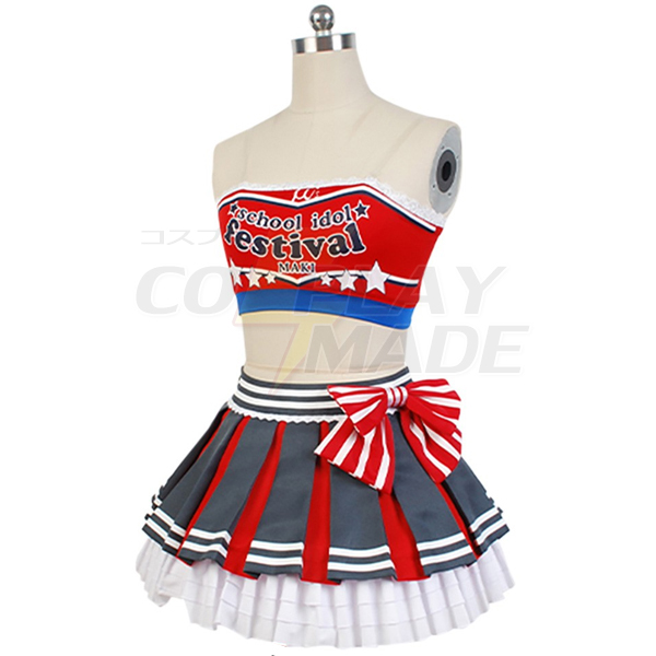 Costumi Love Live! Maki Nishikino Cheerleaders Uniforme Cosplay