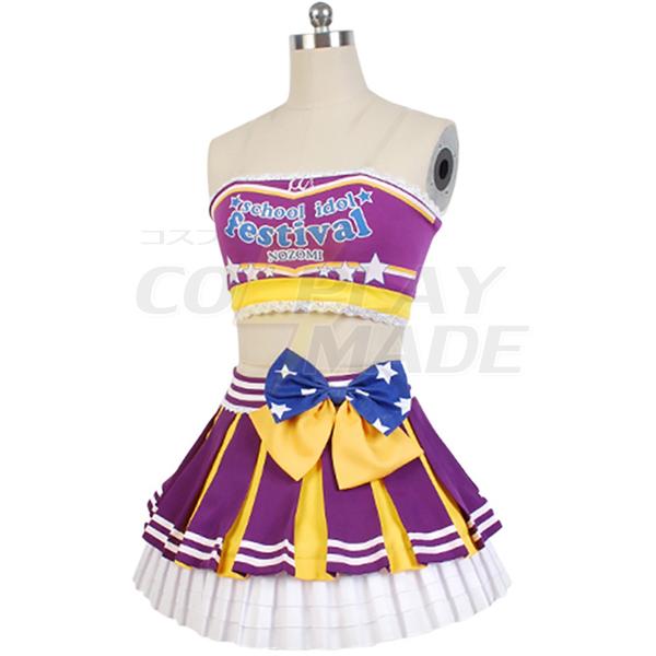 Costumi Love Live! Nozomi Tojo Cheerleaders Uniforme Cosplay