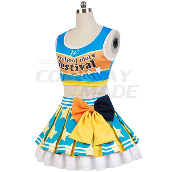 Love Live! Rin Hoshizora Cheerleaders Uniform Cosplay Costume
