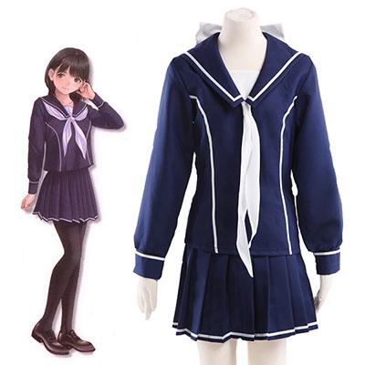 Love Plus Towano High School Girls Skoleuniform Cosplay Kostyme