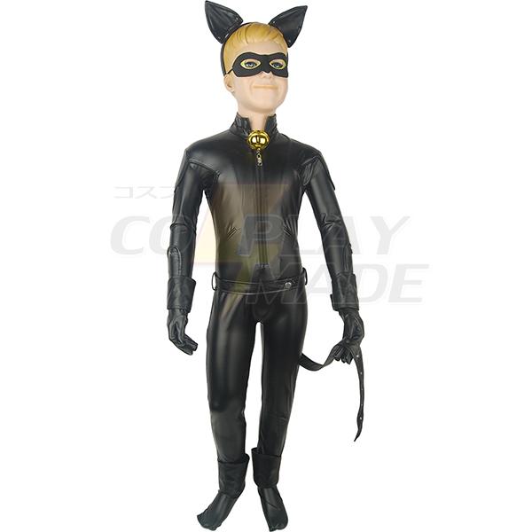 Disfraces Chicos Kids Miraculous: Tales of Ladybug & Cat Noir Adrien Agreste Cat Noir Jumpsuit Traje Cosplay