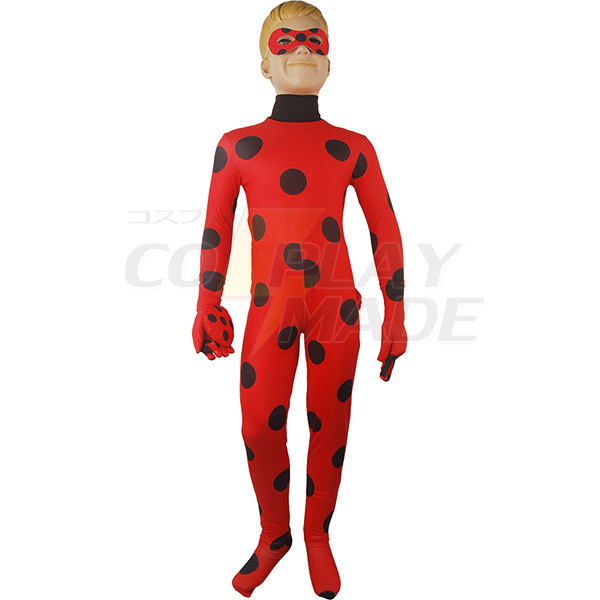Disfraces Kids Girls Miraculous Ladybug Zentai Jumpsuit Bodysuit Traje Yoyo Cosplay