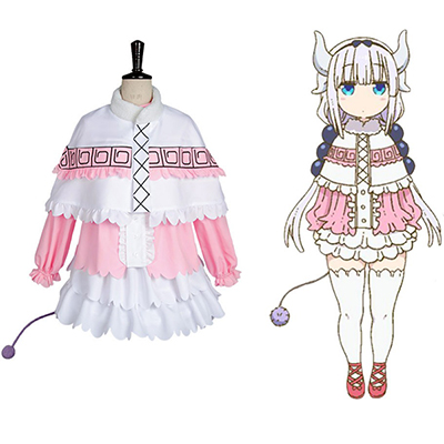 Costume Miss Kobayashi-san Dragon Maid Kanna Kamui Cosplay Déguisement