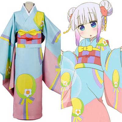 Fantasias de Miss Kobayashi-san Dragon Empregada Kanna Kamui Kimono Cosplay