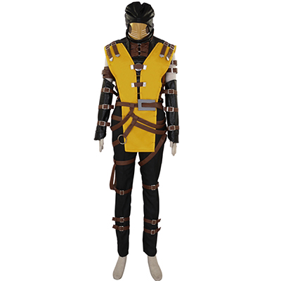 Costume Mortal Kombat Scorpion Hanzo Hasashi Mask Cosplay Déguisement