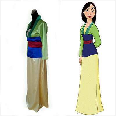 Mulan Princess Coaplay Costume Custom Dress For Women Outfit