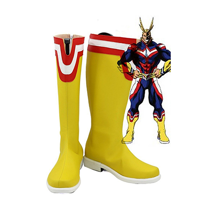 My Hero Academia All Might Cosplay Scarpe Stivali Carnevale
