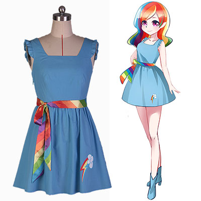 My Little Pony: Friendship Is Magic Rainbow Dash Kjole Cosplay Kostyme