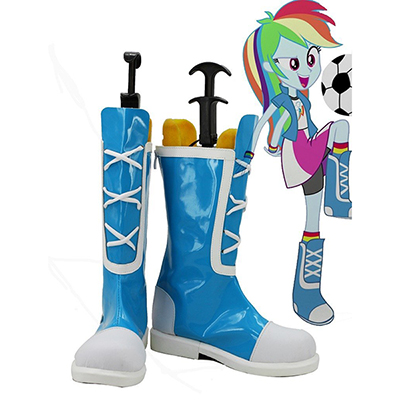 My Little Pony Equestria Flickor Rainbow Rocks Rainbow Dash Cosplay Skor Stövlar