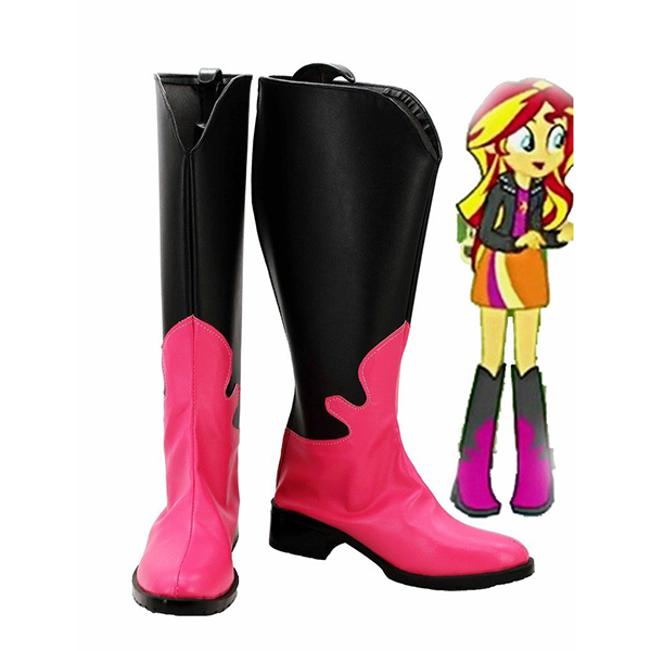 Zapatos My Little Pony Equestria Girls Rainbow Rocks Sunset Shimmer Cosplay Botas