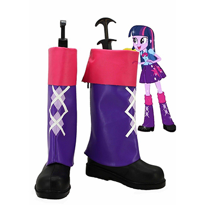 My Little Pony Equestria Flickor Rainbow Rocks Twilight Sparkle Cosplay Skor Stövlar