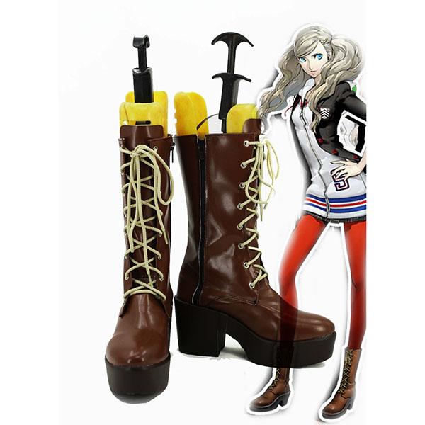 Persona 5 Anne Takamaki Cosplay Scarpe Stivali Halloween