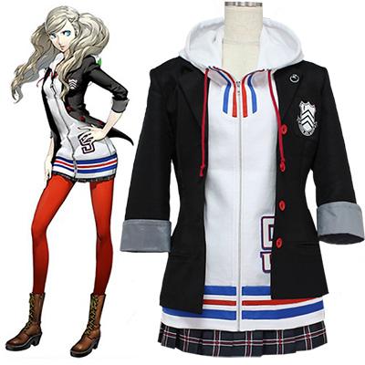 Persona 5 Ann Takamaki Utrusta Cosplay Kostymer Halloween
