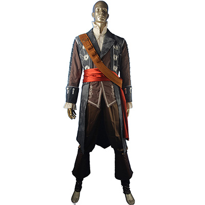 Fantasias de AC Pretobeard Edward Teach Pirate Roupas Cosplay
