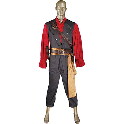 Fantasias de Pirates Of The Caribbean POTC Captain William Turner Pirate Cosplay