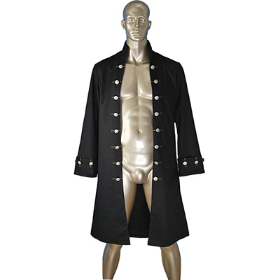 Pirates Of The Caribbean POTC Captain William Turner Pirate Jacket Tøj Cosplay Kostume