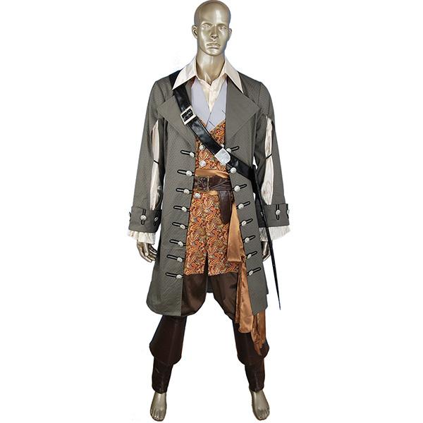 POTC Pirates Of The Caribbean Captain Hector Barbossa Cosplay Kostume