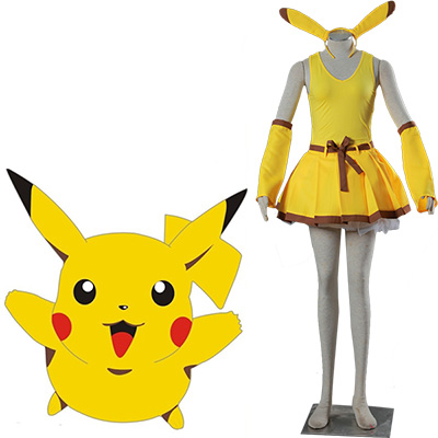 Pocket Monsters Pikachu Cosplay Jelmez Karnevál Ruhák Halloween